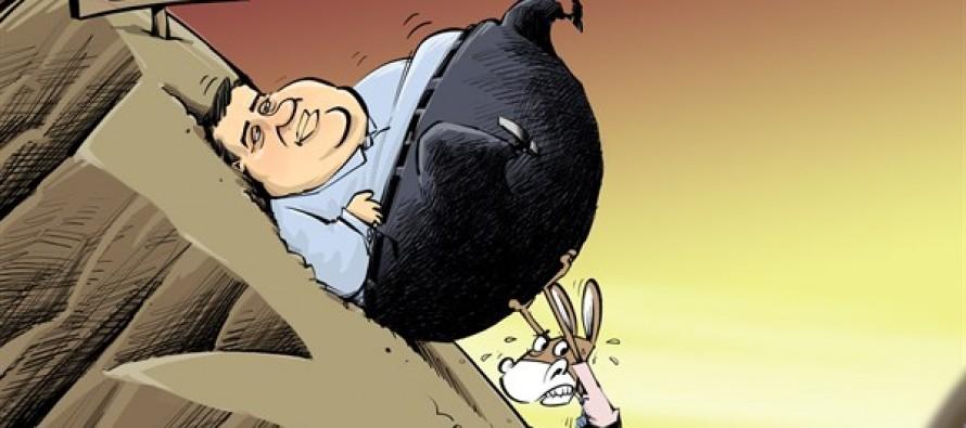 Sisyphus Dems and Christie (Cartoon)