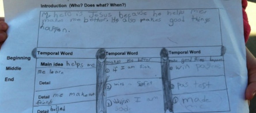 "North Carolina Teacher Tells Elementary School Student Her ""Hero"" Can't Be Jesus"