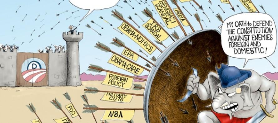 Tea Party Obstructionist (Cartoon)