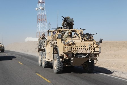 US_military_truck_in_Afghanistan,_2011