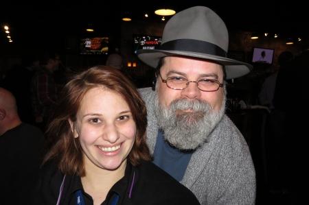 Alexa Dunham & Warner Todd Huston at the #Rinocon party