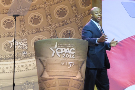 Tim Scott on the main stage at CPAC