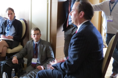RNC Chairman Reince Priebus speaks at a National Bloggers Club luncheon.
