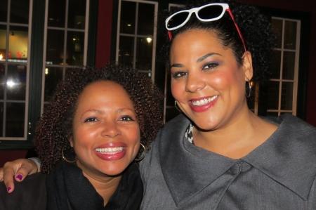 Jennifer Burke & Kira Davis at the IJ Review party.