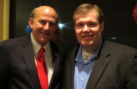 Louie Gohmert & John Hawkins at the GOH Conservative PAC fund raiser.
