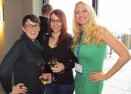 Jackie Bodnar, Kemberlee Kaye, & Donlyn Turnbull at the Rare.us party