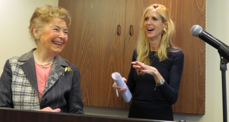 Phyllis Schlafly & Ann Coulter at a private immigration event for about 30 bloggers.