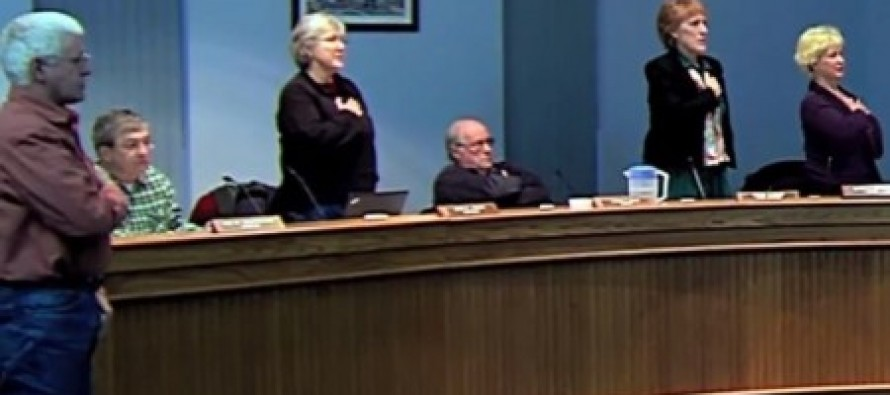 Caught on Video:  Two Maine Council Members Refuse to Stand and Recite the Pledge of Allegiance