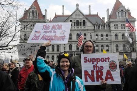 pro-gun-rally Albany NY feb 2014