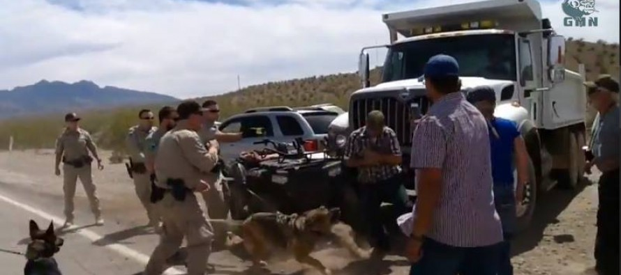 Bureau of Land Management Thugs Prepare To Flee Conflict With Nevada Rancher