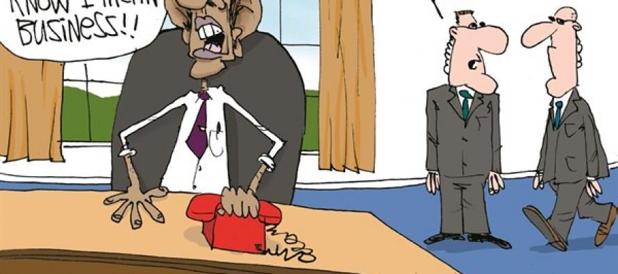 Obama Acts Tough (Cartoon)