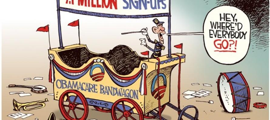 Obamacare Bandwagon (Cartoon)