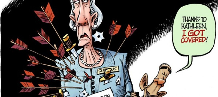 Sebelius Resigns (Cartoon)