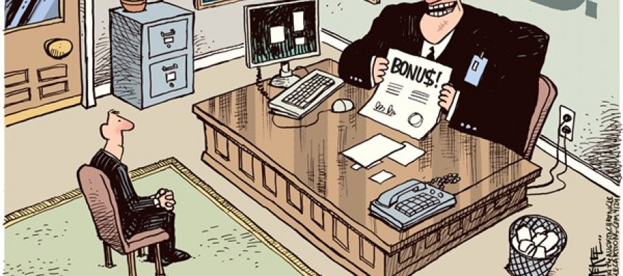 IRS Bonuses (Cartoon)