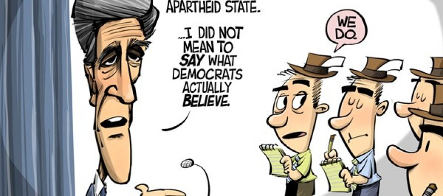 Kerry's apartheid apology (Cartoon)