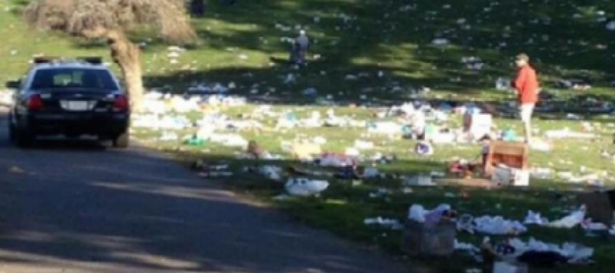 San Francisco Hippies Trash Golden Gate Park & Leave 5 Tons of Trash Behind After Weed Festival