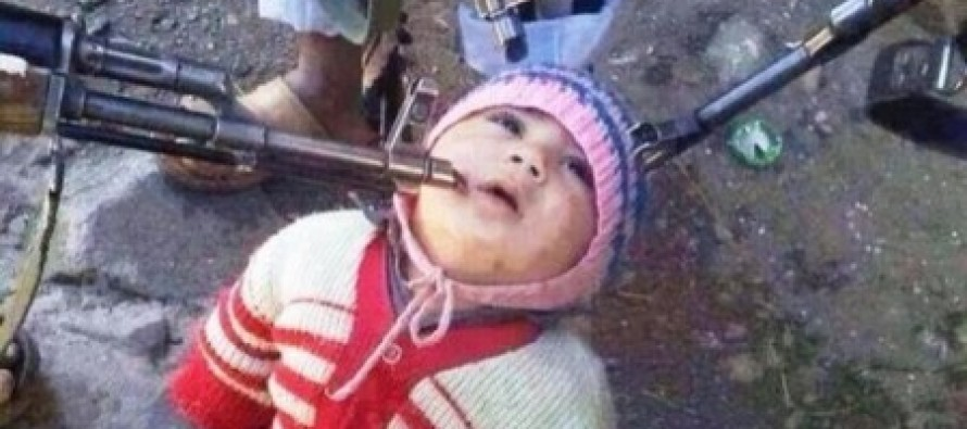 "Syrian Jihadists Post Picture of Them Pointing Guns At Toddler ""Hostage"" From Christian Village"