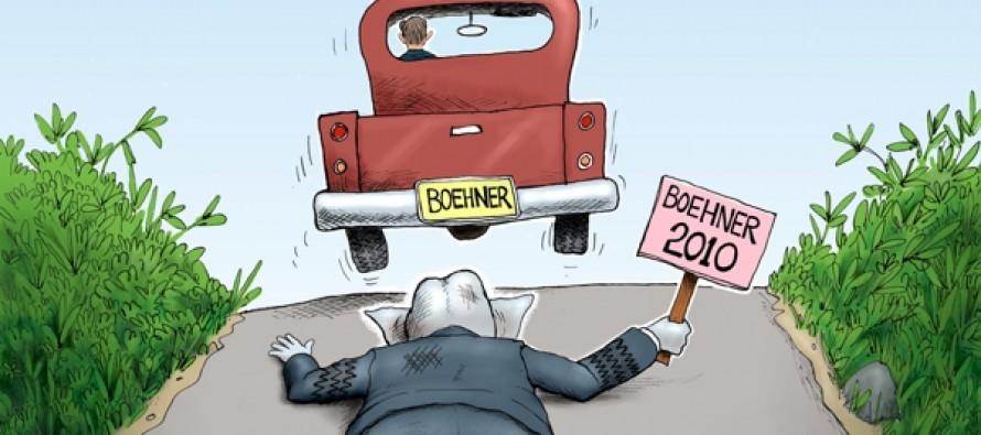 Boehner Disdain (Cartoon)