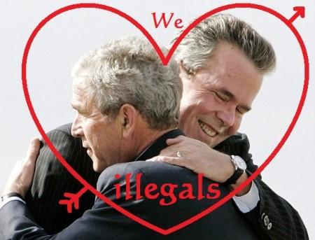 Jeb Bush love illegals