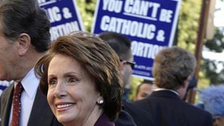 Pelosi Catholic and pro abortion