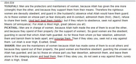 Quran 004.034 Beat your wife