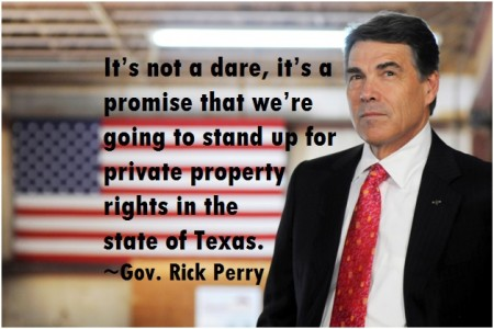 Rick Perry property rights