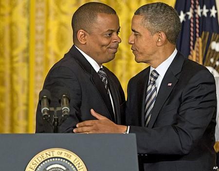 anthony foxx with Obama