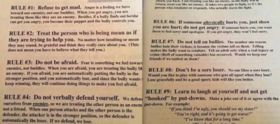 Nebraska School's 9 Rules for Dealing Bullying Victims Sparks Parent Outrage – #6 Is Insane