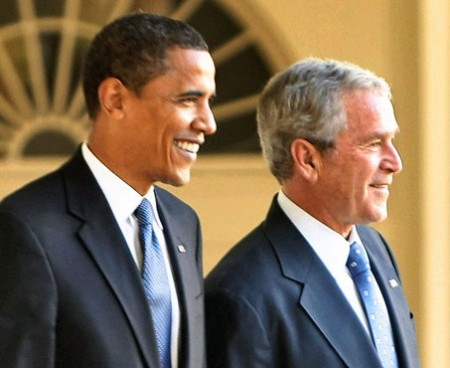George W. Bush, Barack Obama
