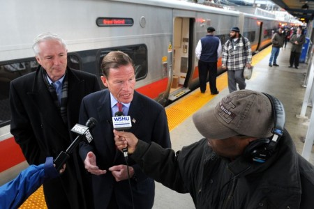 senator richard blumenthal train