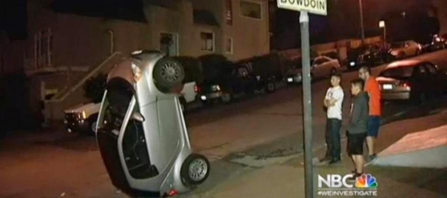 Vandals tip over four Smart Cars in San Francisco and Corrupt Media misses the political statement as motive against Climate Change Hoax