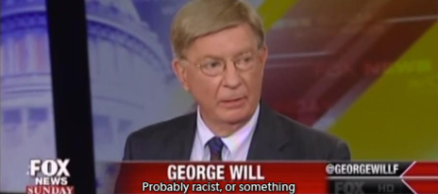 "George Will: The Obama Administration's Cries of Racism Are ""Becoming a Joke"" (Video)"