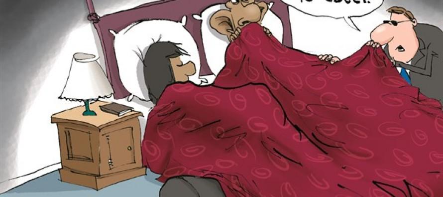 Under Obama's Bed (Cartoon)