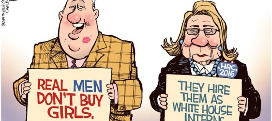 Real Men and Clinton (Cartoon)