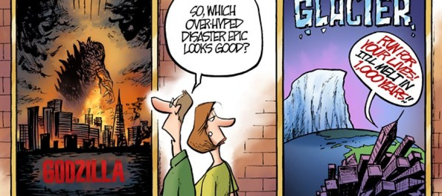 Godzilla and Glaciers (Cartoon)