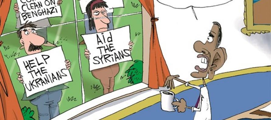 Obama's View (Cartoon)