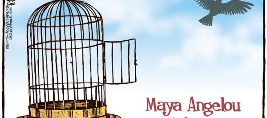 Maya Angelou (Cartoon)