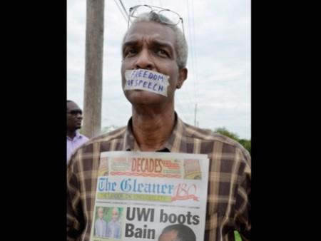 Bain protest freedom of speech