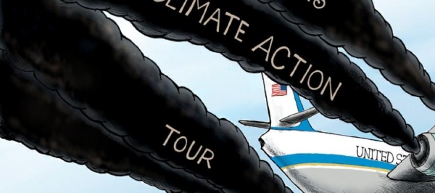 Climate Action Hypocrite (Cartoon)