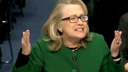 Hillary Clinton at senate hearing
