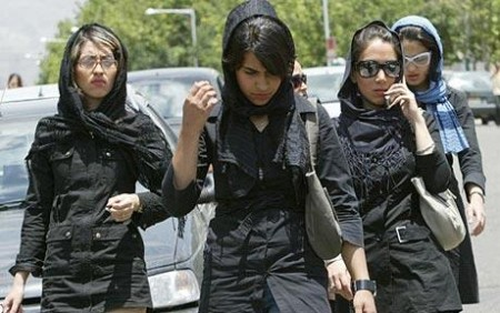 Iran women without headscarf