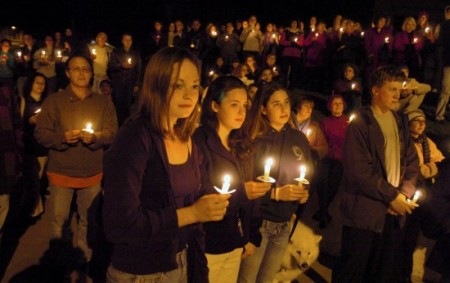 candlelight vigil for fake gay hate crime 2004