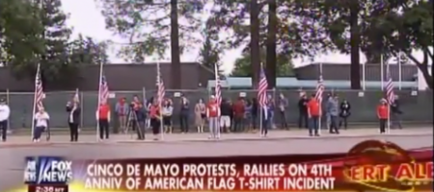High School Erects Fence to Keep America Flags Off Campus During Cinco de Mayo