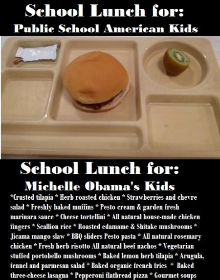 school lunch Obama kids