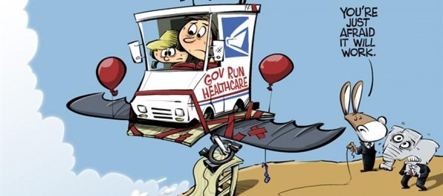 Government run healthcare (Cartoon)