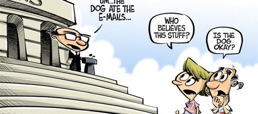 IRS loses e-mail (Cartoon)