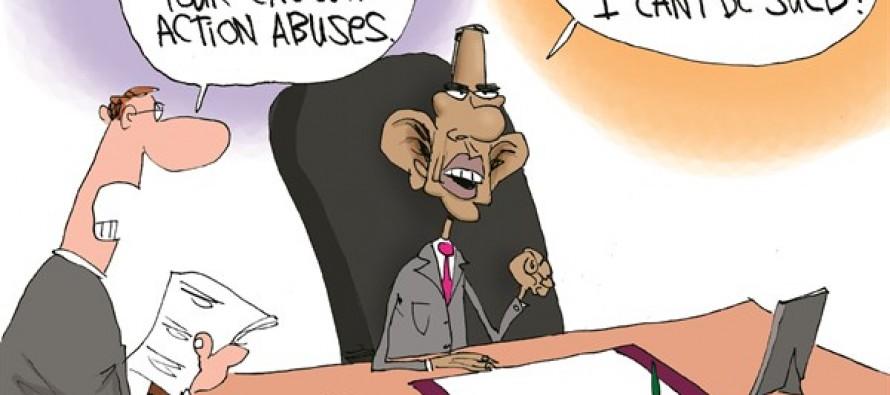 Boehner Sues Obama (Cartoon)