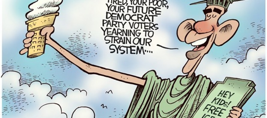 Obama Statue of Liberty (Cartoon)