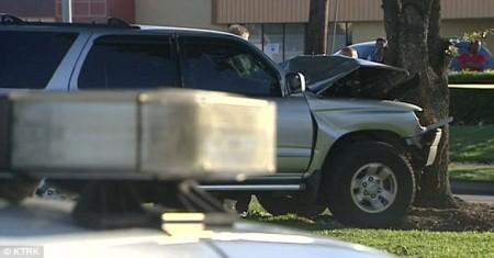 Car Crash in tree Houston
