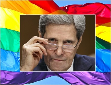 John Kerry rainbow flag